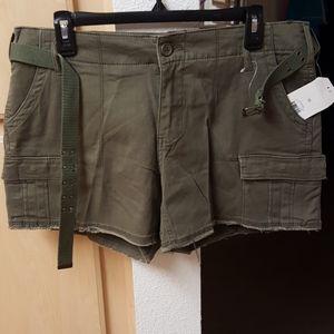 Plus Size Khaki Cargo Shorts